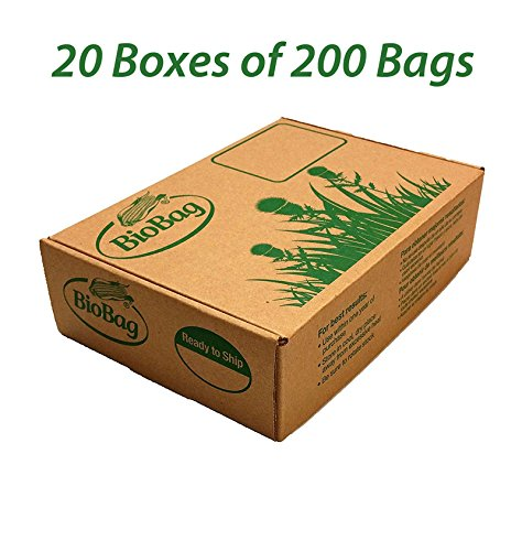 BioBag Dog Waste Bags - Case of 4000 Bags: 20 boxes, 200 per box by BioBag