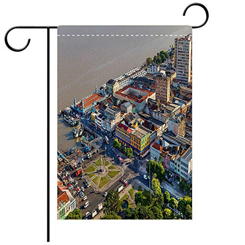 (BEICICI Garden Flag Double-Sided Printing, Belem City in The Amazon Best for Party Yard and Home Outdoor)