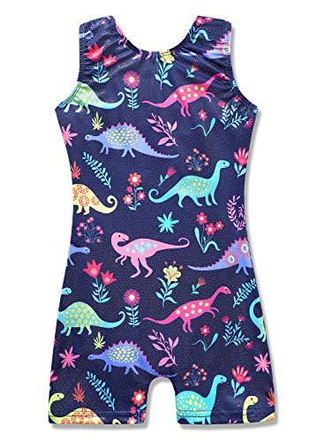 2t 3t leotards for girls gymnastics dinosaur blue navy dark cartoon cute adorable unitard