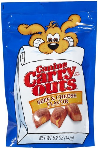 Canine Carry Outs 79100-51036 5.2 Oz Beef & Cheese Flavored Dog Snacks