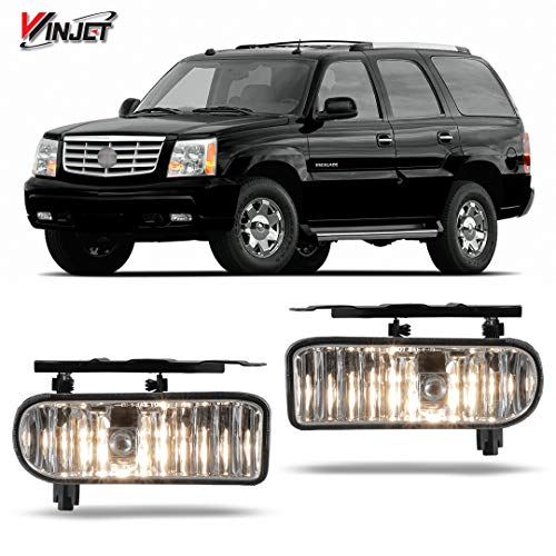 Winjet WJ30-0387-09 OEM Series for [2002-2006 Cadillac Escalade] Clear Lens Driving Fog Lights GM2592138 GM2593138