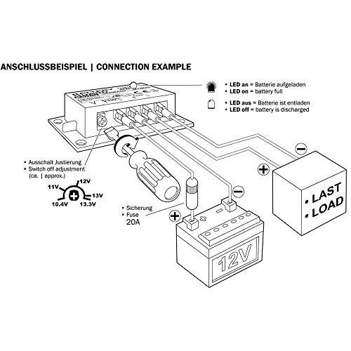 Kemo M148a Batteriewächter 12 V Dc Schützen Von Autobatterien Vor Tiefentladung Automatisches Einschalten Nach Wiederkehr Normaler Spannung Abschaltspannung Einstellbar Ca 10 4 13 3 V Gewerbe Industrie Wissenschaft