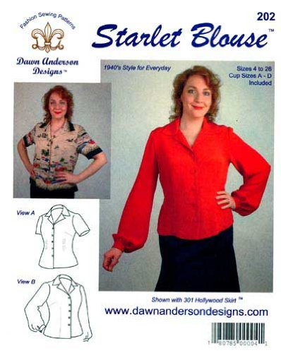 Patterns - Dawn Anderson Designs #202, Starlet Blouse