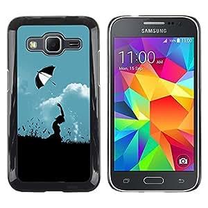 Smartphone Rígido Protección única Imagen Carcasa Funda Tapa Skin Case Para Samsung Galaxy Core Prime SM-G360 Nature Umbrella Field / STRONG