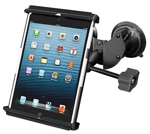 Suction Cup Windshield Mount w/ Retention Knob fits Apple iPad mini 1 2 3 & 4 by RAM
