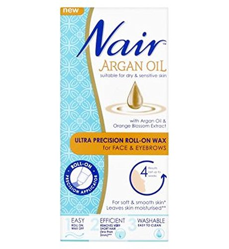 Nair Argan Oil Ultra Precision Roll-On Wax For Face & Eye...