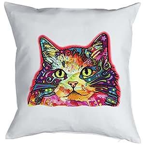 Gatos de cojín/–Cojín de decoración con relleno/de neón Cat de impresión: ragamuffin–para gato Amigos