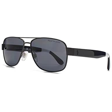 ba00c80f4b Polo Ralph Lauren Square Aviator Sunglasses in Matte Dark Gunmetal  Polarised PH3097 930781 59 59 Grey