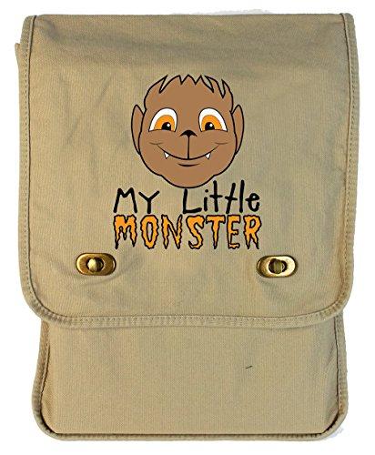 Monster Carrying Man Costume (Tenacitee My Little Monster Wolf Boy Putty Canvas Field Bag)