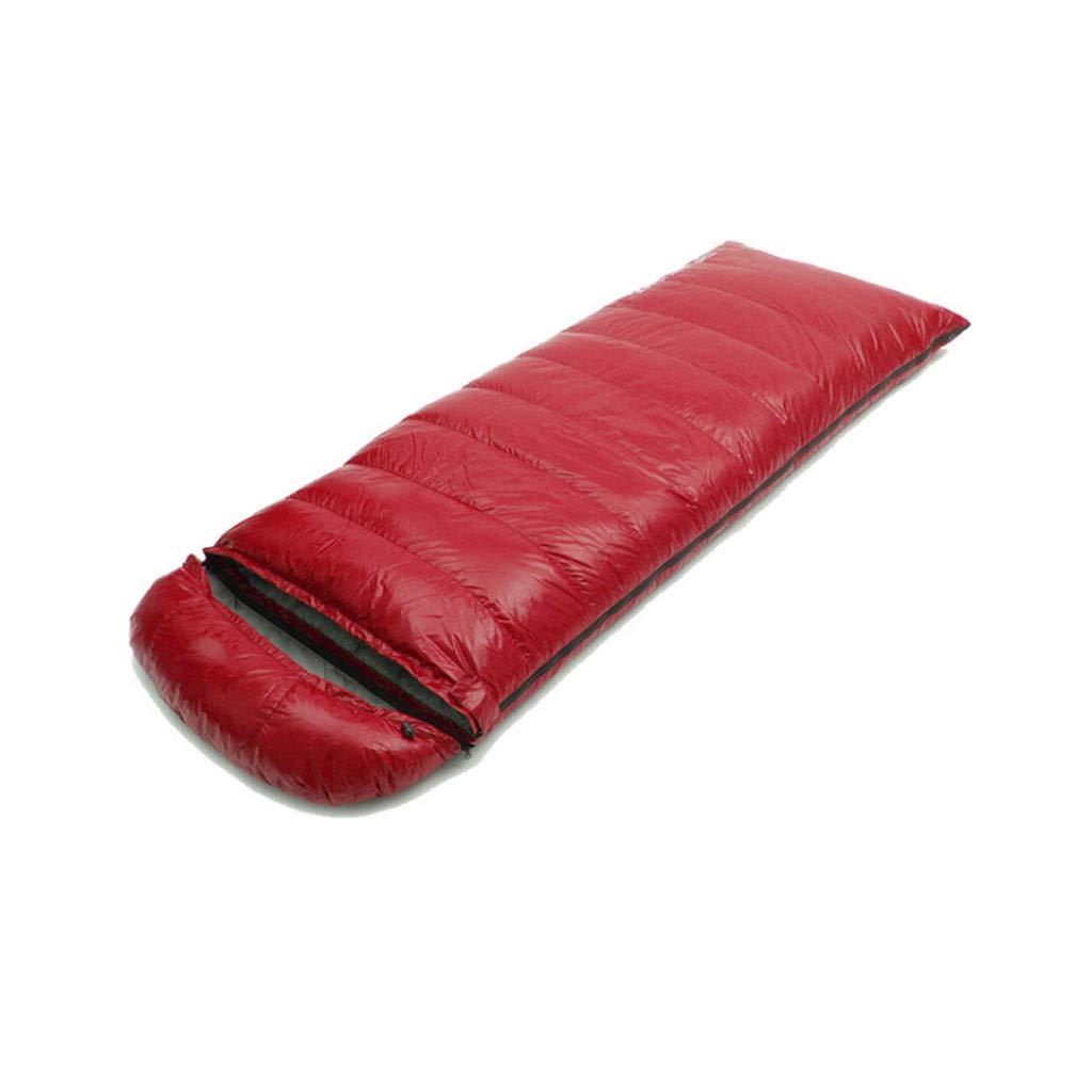 Vin rouge 2.5kg DGB Type D'enveloppe Adulte Randonnée Pédestre Camping Sac De Couchage Imperméable Ultra Léger en Duvet De Canard