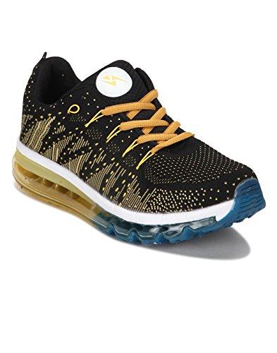 Yepme - Zapatillas de atletismo de Material Sintético para hombre amarillo amarillo