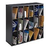 Scranton & Co 18 Compartment Mail Sorter in Black