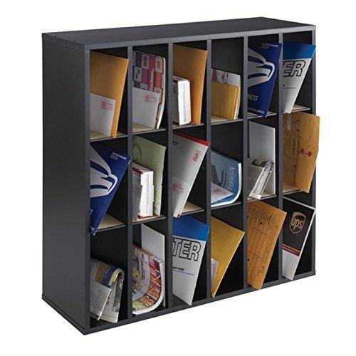 Scranton & Co 18 Compartment Mail Sorter in Black by Scranton & Co