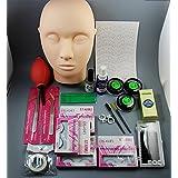 CHENGYIDA 1 Set False Eyelash Individual Fake Eye Lashes Extension Makeup Tools Glue Tweezer Brushes Set Kit