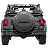 Boomerang 2018 Jeep Wrangler Rubicon JL & JLU - 33'' Color Matched Rigid Tire Cover (Plastic Face & Vinyl Band) - Granite Crystal Metallic