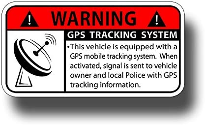 GPS Tracker Device Motorcycle Bike YELLOW 2 Motorbike SECURITY WARNING STICKER
