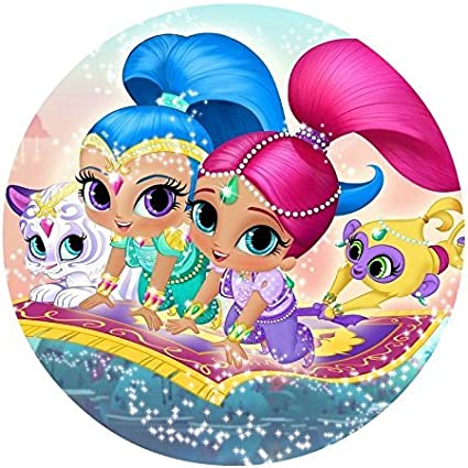 Amazon.com: Shimmer & Shine Comestible Decoración Para Tarta ...