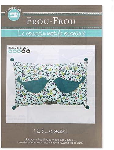 Frou-Frou Fiche Couture Le Coussin Motifs Oiseaux x1