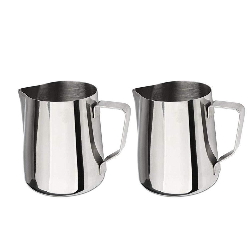 TYI Premium Stainless Steel Frothing Pitcher Milk Pitcher,High Capacity 1500Ml - for Milk Frothers Espresso Cappuccino Coffee Creamer(2PCS)