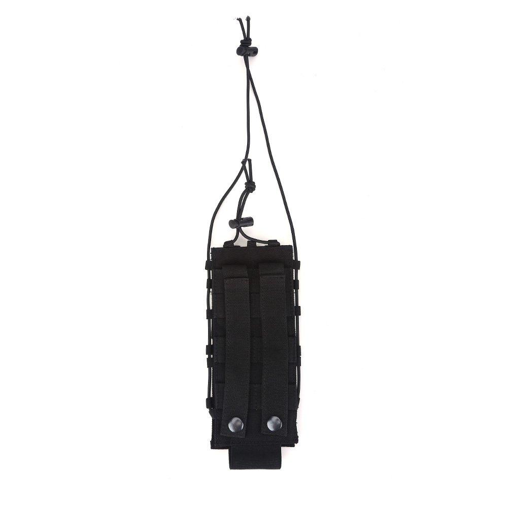 Bottiglia porta acqua portatile porta bottiglie con cinghia regolabile per attività all' aperto, Black VGEBY