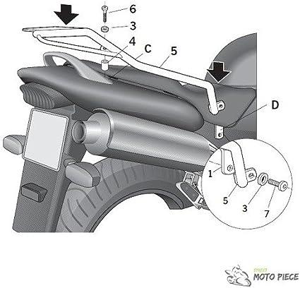 Negro Shad H0CB64ST Soporte de Ba/úl para Honda CBF 600 S//N