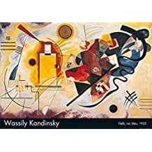 Posters: Wassily Kandinsky Poster Art Print - Jaune, Rouge, Bleu (39 x 28 inches)