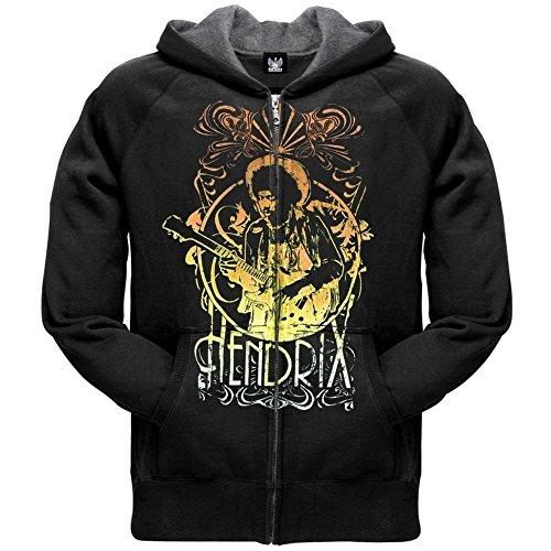 Jimi Hendrix - Mens Jammin Zip Hoodie X-Large Black