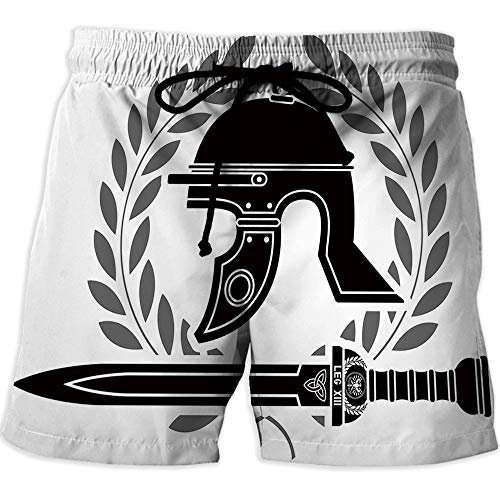 iPrint Mens Boardshorts Swim Trunks Quick Dry Shorts, Toga Party,Athletic Shorts ()