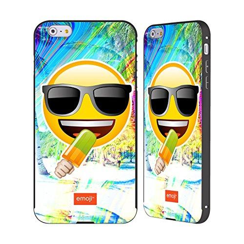 Officiel Emoji Lunettes De Soleil Solos Noir Étui Coque Aluminium Bumper Slider pour Apple iPhone 6 Plus / 6s Plus