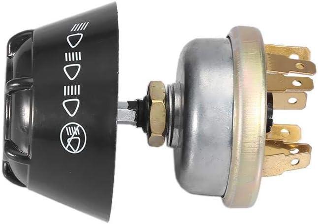 ABS EBTOOLS Pulsante per interruttore a corno leggero impermeabile 12V per trattore Massey Ferguson alluminio