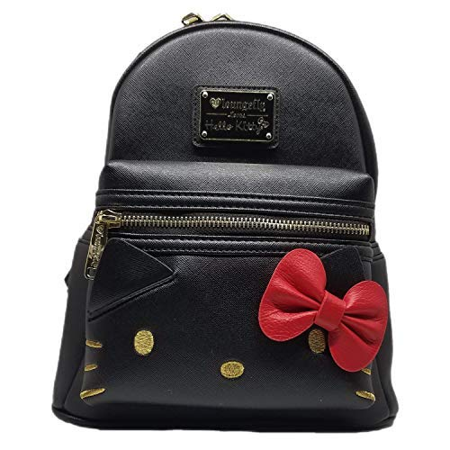 Loungefly Hello Kitty Black Mini Backpack with Bow -