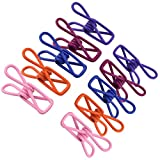 MONEIL Multi-purpose Metal Wire Clip Windproof Clothespin Clips Holders for Office,Home,Travel,Clothes Socks Scarfs,Drying Home Laundry,Baby Diaper etc.-Metal Peg Pins Hanging Clips Hooks (Pack of 50)