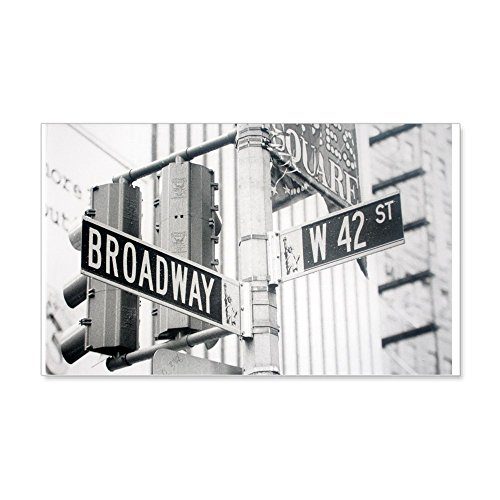 CafePress - NY Broadway Times Square - 20x12 Wall Decal - 20x12 Wall Decal, Vinyl Wall Peel, Reusable Wall - York Ny 42nd Street New