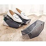 Shoes Organizer, Simply Clear Plastic Non-Slip Display Rack Shoes Organizer Space-Saving Plastic Rack Storage (L:25.5x9.5x10cm)