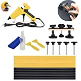 VTOLO 21 Pcs Pops a Dent Puller Tool Kit with Dent Bridge for Car Dent Paintless Repair Tools with 100W Hot Melt Glue Gun and High Adhesive Stick for PDR Dent Removal