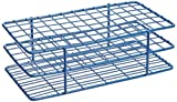 Heathrow Scientific HEA120089 Coated Steel 13 mm and 16 mm Durable Tube Racks, 13 mm Tube, 5 x 10 Tube Array