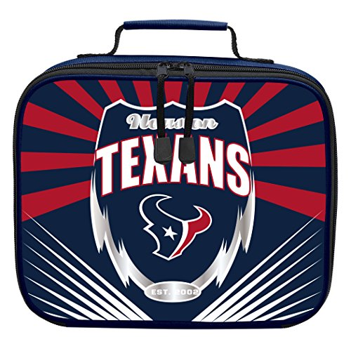 "The Northwest Company Officially Licensed NFL Houston Texans ""Lightning"" Kids Lunch Kit, blue, One Size"