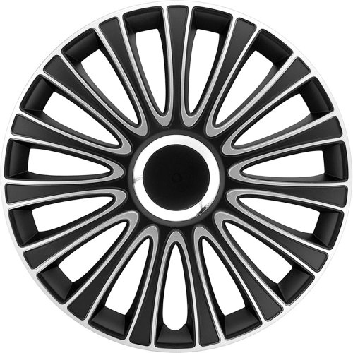 Style Auto Set Wheel Covers Lemans 14-inch Black/Silver -