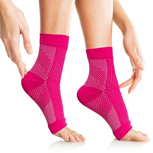 VivoPro Sports Plantar Fasciitis Socks by Ankle Compression Socks Support Pain Relief for Plantar Fasciitis, Flat Feet, Chronic Ankle Pain, Heel Spurs, Achilles Injury, Edema | for Men, Women, Kids