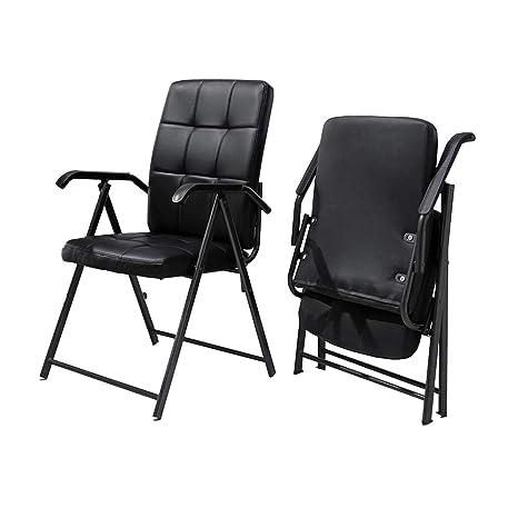 Incredible Amazon Com Xuerui Reception Chairs Chairs Foldable Faux Machost Co Dining Chair Design Ideas Machostcouk