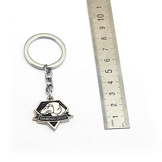 Mct12 - Metal gear solid 5 Keychains Fox hound outer heaven llaveros Fashion key chain skull animal game souvenir jewelry