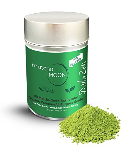 Eco Green Clean (Delicious Organic Japanese Uji Matcha Green Tea Powder from Shaded Fields of Kyoto Japan | Finest All-Purpose Grade for Hot Tea, Cold Brew, Lattes, Smoothies, Baking | 100g Tin for Premium Freshness)