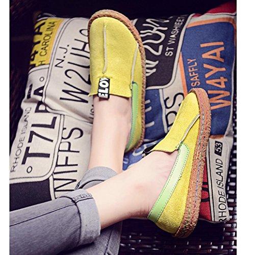 Sommer Lazy VENMO Schuhe Lässige Sandalen Slip Schuhe Damen Schuhe Damen Green Schuhe Erbsen wFqBgR