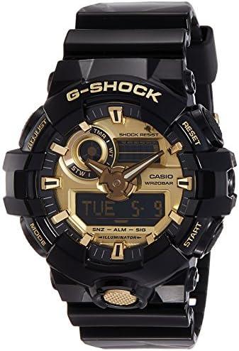 Casio Men s G Shock GA710GB-1A Black Rubber Quartz Sport Watch