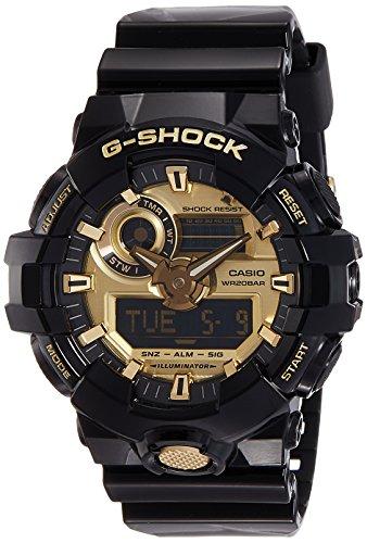 - Casio Men's G Shock GA710GB-1A Black Rubber Quartz Sport Watch