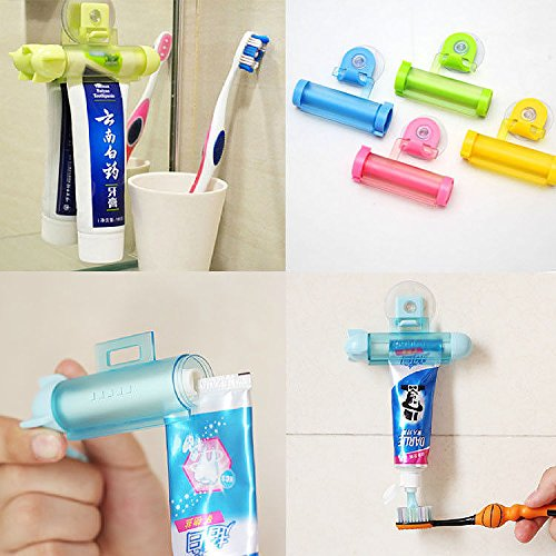 krisgiftstore-cute-rolling-squeezer-toothpaste-dispenser-tube-partner-sucker-hanging-holder-5xpcs-se