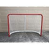 "Ascent Sports 2"" OD Steel Hockey Goal - Hockey Net Outdoor - 5mm Polyester Net - NHL Regulation Size - 72"" W x 48"" H x 40"" D"