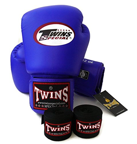 Twins Special - Boxing Gloves. BGVL3, Color:Black Red Green Orange White Blue, Size: 10 12 14 16 oz. Training/Sparring Gloves for Muay Thai, Kick boxing, MMA (blue, 10 - Twins Black Boxing Gloves