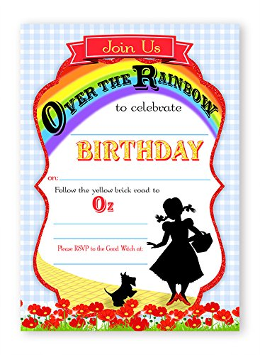 Wizard of Oz LARGE Invitations - 10 Invitations + 10 Envelopes ()