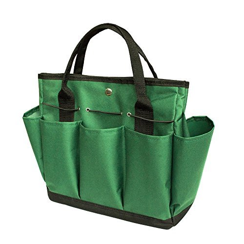(Garden Tote/ Gardening Tool Storage Bag/Garden Tool Bag with with 8 Pockets Oxford for Indoor Outdoor Garden Plant Tool Set Gardening Tools Organizer Tote Lawn Yard Bag Carrier)